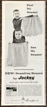 1959 Jockey Men's Seamfree Boxers PRINT AD Brothers with Dad's Drawers - $10.69
