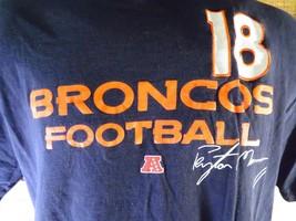 Denver Broncos Peyton Manning # 18 NFL Fußball T-Shirt GRÖSSE L - $6.24