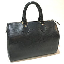 AUTHENTIC LOUIS VUITTON Epi Speedy 25 Mini Duffle Bag Hand Bag Noir M59032 - $450.00