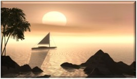 Scenic Sailing at Sunset Refrigerator Magnet - $1.99+