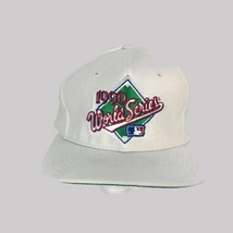 Vintage 1990 MLB Major League Baseball World Series White Snapback Baseb... - $28.01