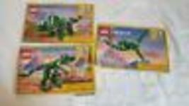 3 LEGO CREATOR DINOSAUR INSTRUCTION MANUALS #31058, - $4.94