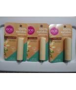 EOS Organic Shea Lip Balm 100% Natural Vanilla Bean Paraben-Free Lot Of 3 - $9.41