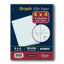 iScholar Quad Filler Paper, 4 Squares per Inch, 10.5 x 8 Inches, 80 Shee... - $8.79