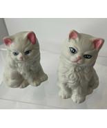 """Pair of Vintage Small Ceramic Cat Figurines 3-1/4"""" - $10.84"""
