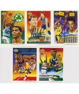 NBA Legends Signed Lot of (5) Trading Cards - Parish, Price, Perkins - $19.99