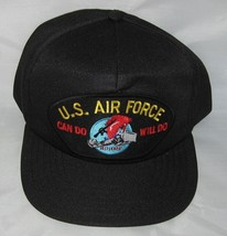 NEW U.S. Air Force Can Do Will Do Baseball cap hat. Black. Made in USA. - $15.95