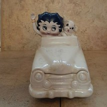 Betty Boop & Pudgy Dog White Convertible Car Candy Dish Original Sticker... - $34.60