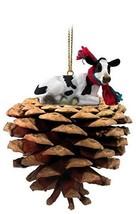 Conversation Concepts Holstein Cow Pinecone Pet Ornament - $12.99
