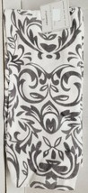 "2 SAME PRINTED JUMBO KITCHEN FIBER REACTIVE TOWELS (16""x26"") GREY FLOWER... - $13.85"