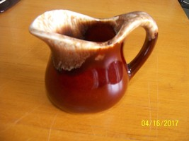 Vintage Kitchen Brown Drip Handled Creamer Unkn... - $24.75