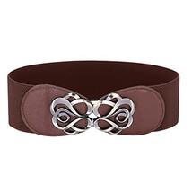 Women Vintage Elastic Plus Size Waist Belts Coffee XL CL413-6