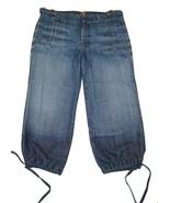 7 For All Mankind 7FAMK 27 Capri Jeans Drawstring Hems - $7.28