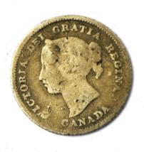 1882 H Canada 5c Five Cents Silver Coin Half Dime KM# 2 - $9.89