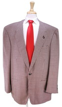 * DION SCOTT * Custom Made for FRANK THOMAS Burgundy 2-Pc Wool Suit 50L - $455.00