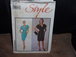 Style 1338 Misses Dress Loose Fitting  Size 8  New - Uncut - $8.00
