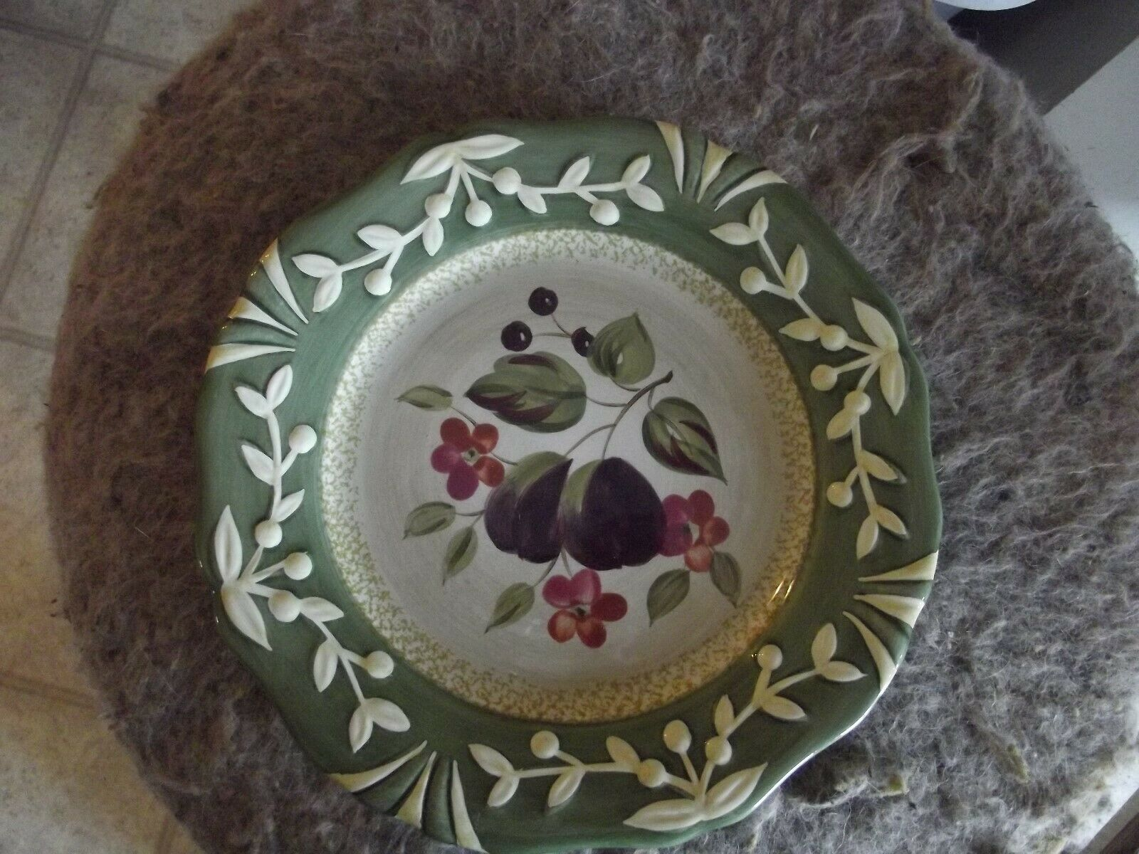 Primary image for Certified International La Toscana plum salad plate 1 available