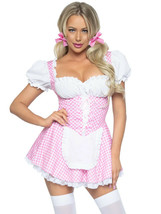 Pink Gingham Dress w/Apron Milk Maid/Oktoberfest Costume by Leg Avenue™ - $59.95