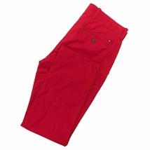 Tommy Hilfiger Men's Regular Rise Straight Leg Red Chino Pants - $39.99