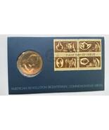 1972 American Revolution Bicentennial Commemorative Coin Stamps - $9.28