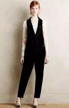 Anthropologie Harlyn Velvet One Piece Black Tuxedo Jumpsuit Size S $268 - $78.21