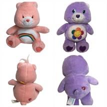 "Care Bears  Lot Of Two - Cheer Bear 7""  Nanco 2003 And 6"" Harmony Bear 2004 TCFC - $19.99"