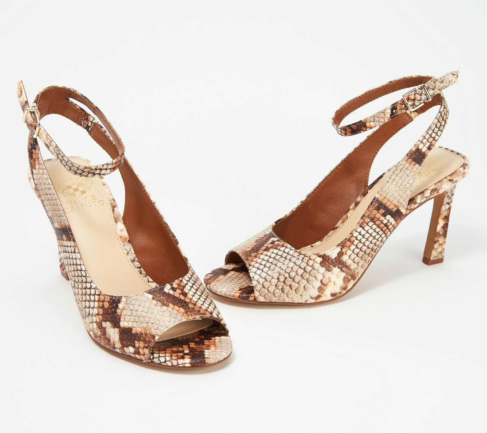 Primary image for Vince Camuto Heeled Peep Toe Sandals - Rateema Sienna 11 M