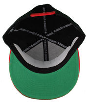 Dissizit! Side Bear Black Red Brim Snapback Cap Hat California Star Flag image 7