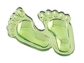 Footprint  Acrylic Charm-Apple Green - $9.85