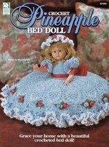 Pineapple Bed Doll Crochet Decoration Hat Roses Ribbon Graceful Pearls OOP - $7.91