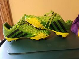 Adidas Boys Kids Green Black PREDATOR Absolion LZ TRX Youth Soccer Cleats Size 4 - $24.99