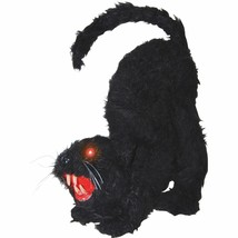 Halloween Black Cat Haunted House Prop Lights Up Spooky Sound Party Deco... - $38.42