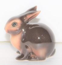 Vintage Goebel W Germany Brown Ceramic Rabbit Figurine CE 297 - $12.00