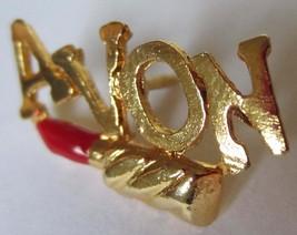 Avon Representative Lipstick Gold-toned Brooch Pin - $9.99