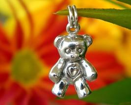 Vintage Teddy Bear Bracelet Charm Pendant Sterling Silver Figural - $14.95