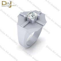 1.10ct Solitaire Diamond Wedding Band For Men's Unique Engagement Ring B... - £87.66 GBP+