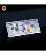 WR New US $100 Dollar Colored Silver Foil Banknote Paper Money Bill Coll... - $4.50