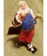Hallmark Keepsake Christmas Ornament 2001 Set of Two Santa Claus Panda Bear - $15.00