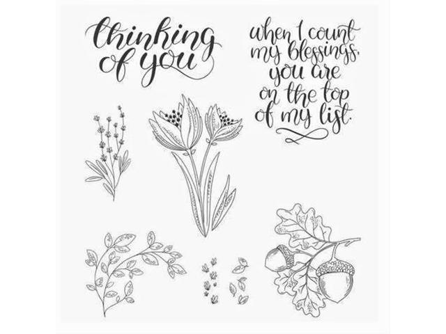 Stampin' Up! Count My Blessings Rubber Stamp Set #144790