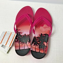 Crocs Isabella Graphic Candy Pink Womens Sandals Size 9 - $26.05