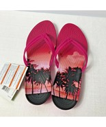 Crocs Isabella Graphic Candy Pink Womens Sandals Size 9 - $40.07