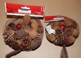 Pinecones Small Scented Bags 2ea With 3 Color Mix Stuff Ashland Christma... - $7.49