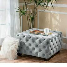 ModHaus Living Modern Contemporary Button Tufted Velvet Upholstery Foots... - $184.10