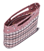Sonia Kashuk Broken Houndstooth Cosmetic Bag Modern Pouch w organization pockets image 2