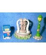 Cherished Teddies.......... Mail Box, Light Post, and Water Fountain by ... - $13.80