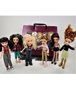 Vintage Collectible BRATZ Doll Collection-6 Dolls w/ Fashion Carrying Ca... - $157.41