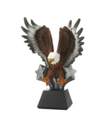 Bald Eagle in Flight w/ Stars Bursting at Base Figurine Statue - $74.95