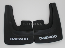 Universal car mud flaps with Daewoo logo rear or front snow guards 3D cu... - £22.80 GBP