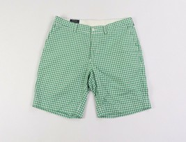Polo Ralph Lauren Mens Size 34 Casual Cotton Chino Shorts Green White Plaid - $34.60