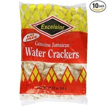EXCELSIOR JAMAICAN WATER CRACKERS 11.85 OZ , FAMILY SIZE, (PACK OF 10) - $35.00
